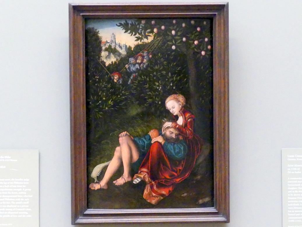 Lucas Cranach der Ältere: Simson und Delila, um 1528 - 1530