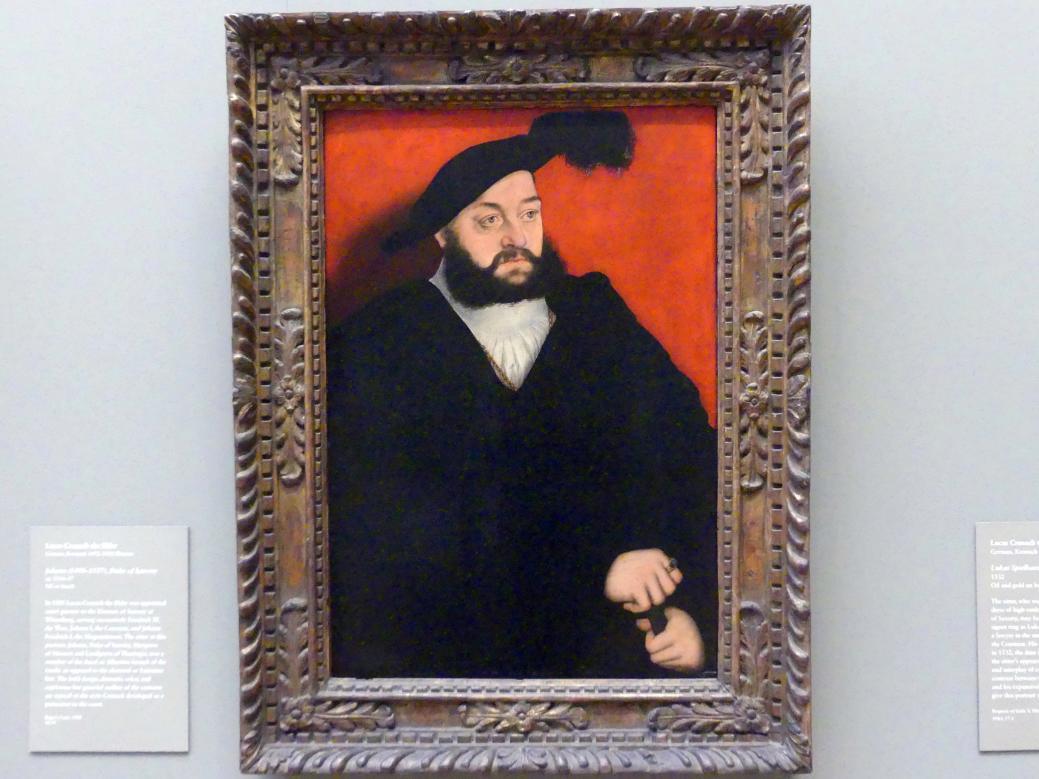 Lucas Cranach der Ältere: Johann von Sachsen (1498–1537), um 1534 - 1537