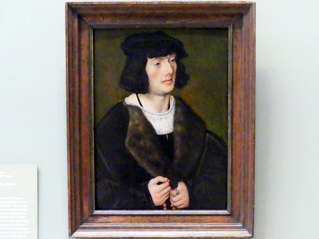 Lucas Cranach der Ältere: Porträt eines Mannes mit Rosenkranz, um 1508