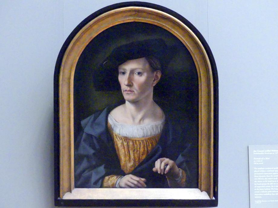 Jan Gossaert (Mabuse): Porträt eines Mannes, um 1520 - 1525