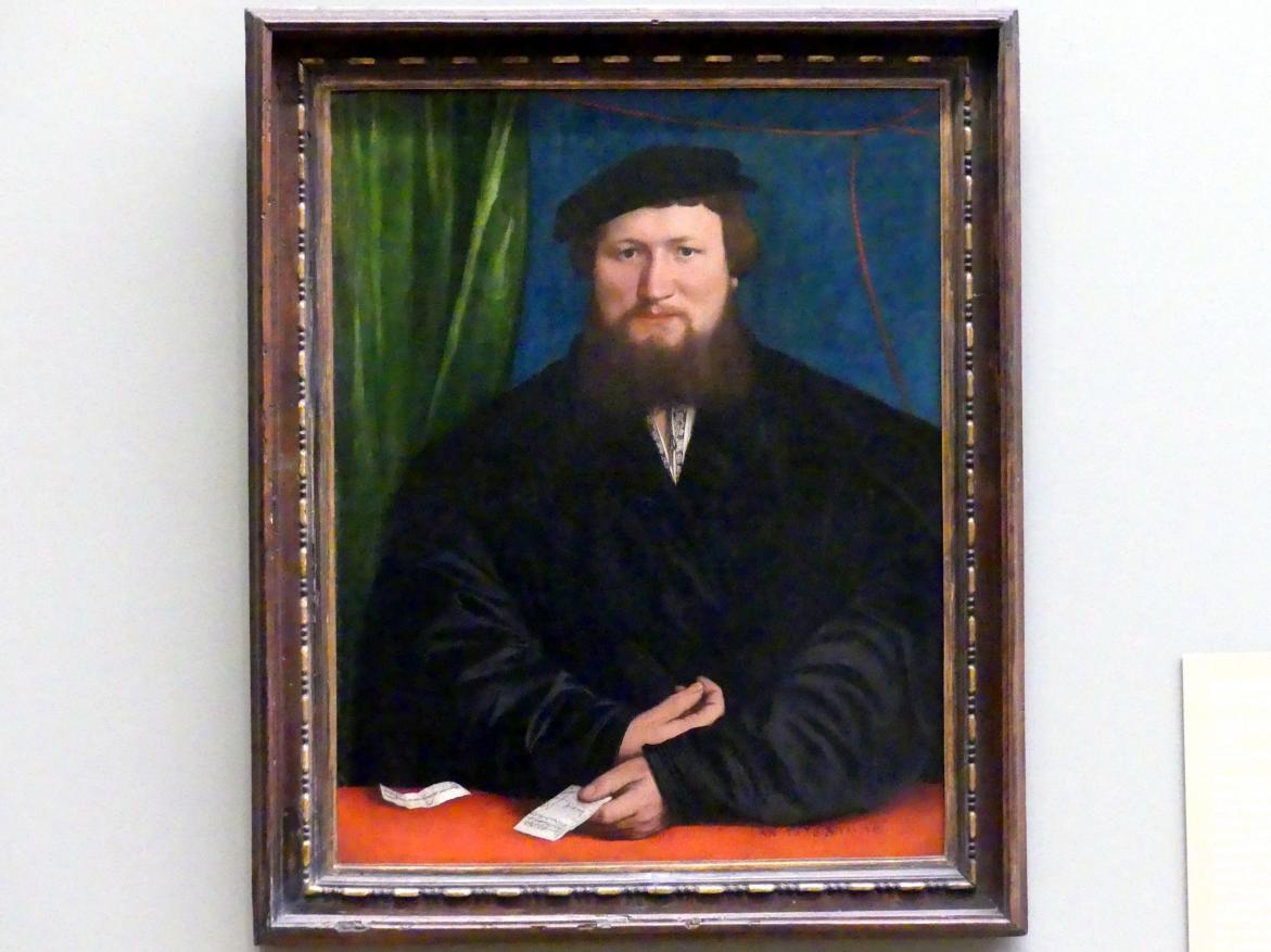 Hans Holbein der Jüngere: Bildnis des Derick Berck aus Köln, 1536