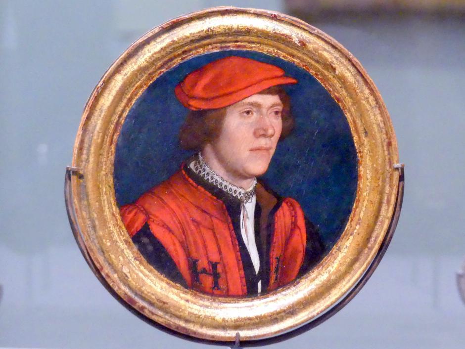 Hans Holbein der Jüngere: Porträt eines Mannes mit roter Mütze, 1532 - 1535