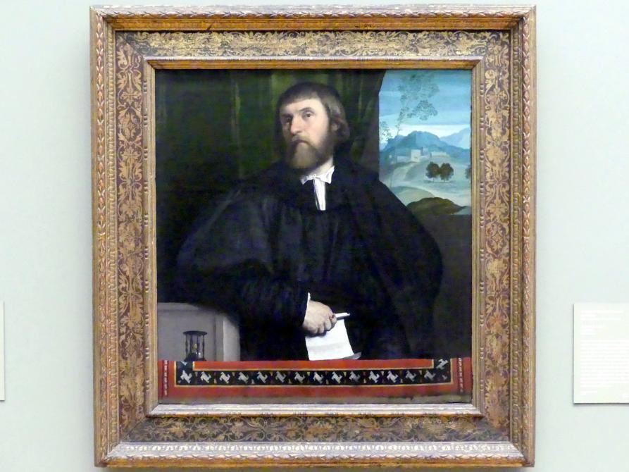 Alessandro Bonvicino (Moretto): Bildnis eines Mannes, um 1520 - 1525