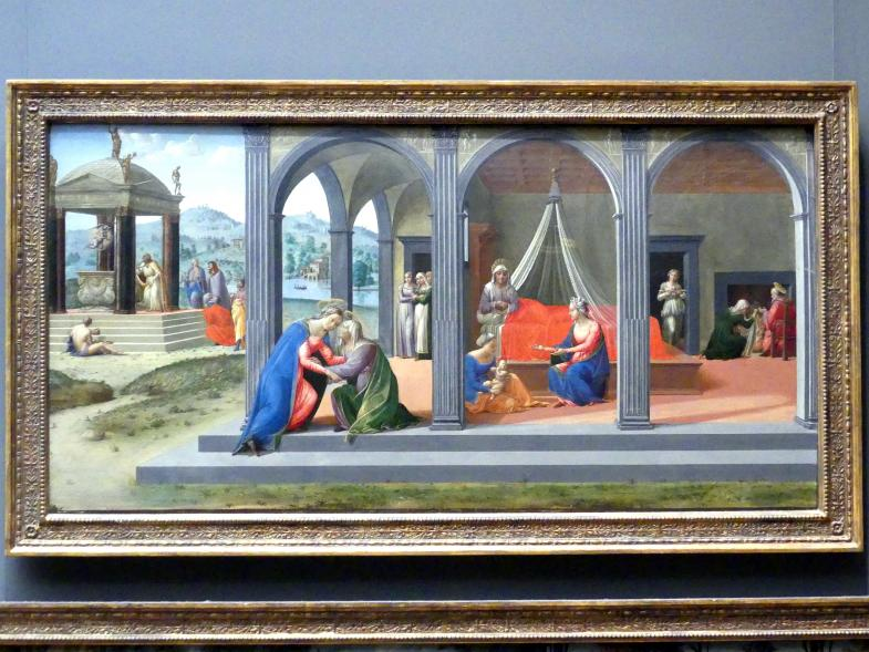 Francesco Granacci: Szenen aus dem Leben Johannes des Täufers, um 1506 - 1507