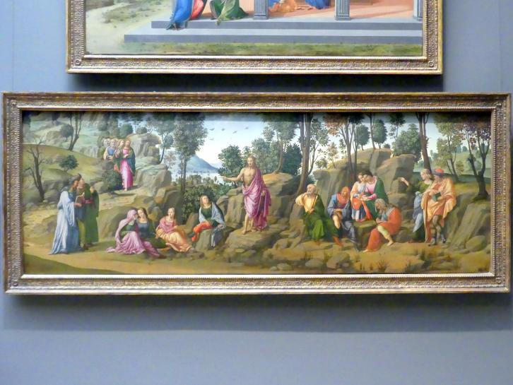Francesco Granacci (Werkstatt): Johannes der Täufer predigt in der Wüste, um 1506 - 1507