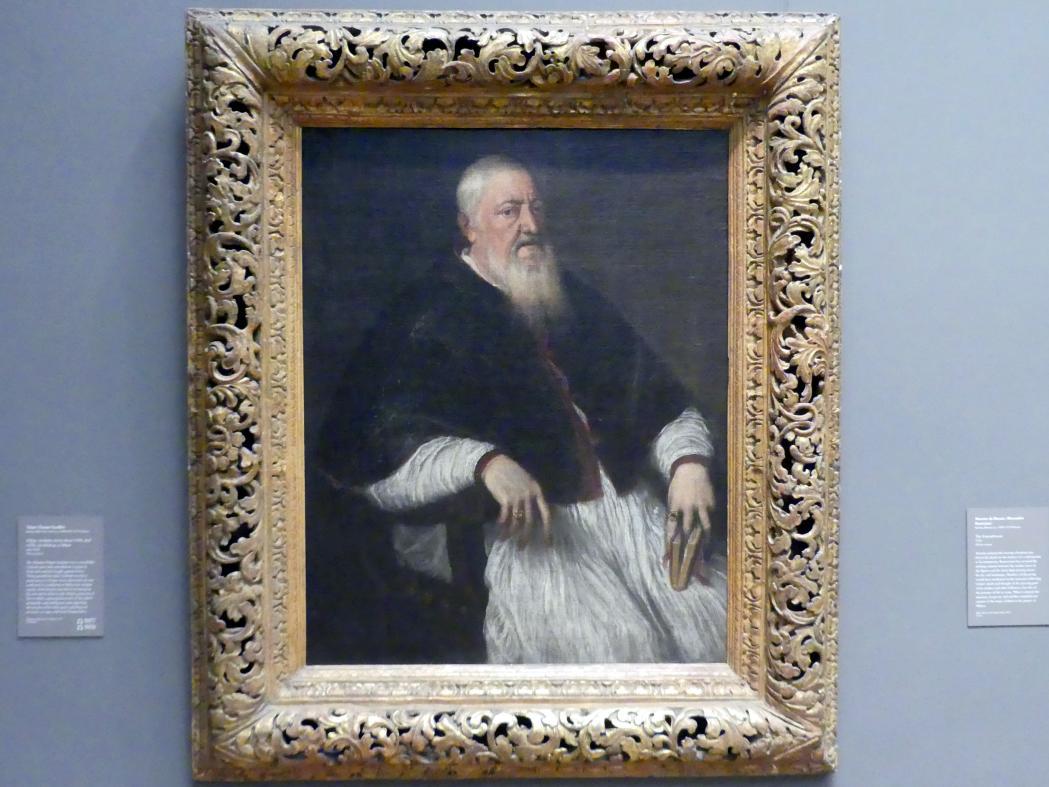 Tiziano Vecellio (Tizian): Filippo Archinto (geb. um 1500, gest. 1558), Erzbischof von Mailand, um 1550