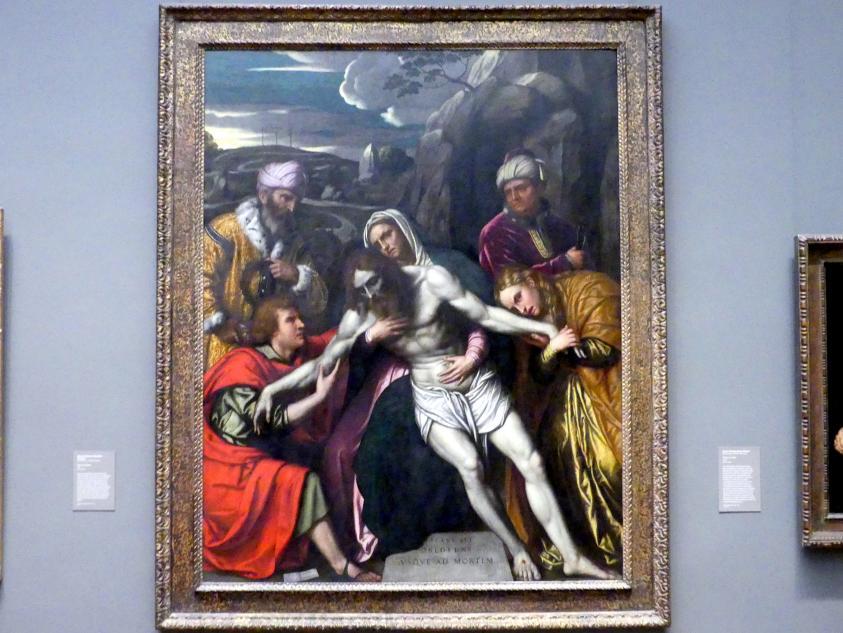 Alessandro Bonvicino (Moretto): Grablegung Christi, 1554