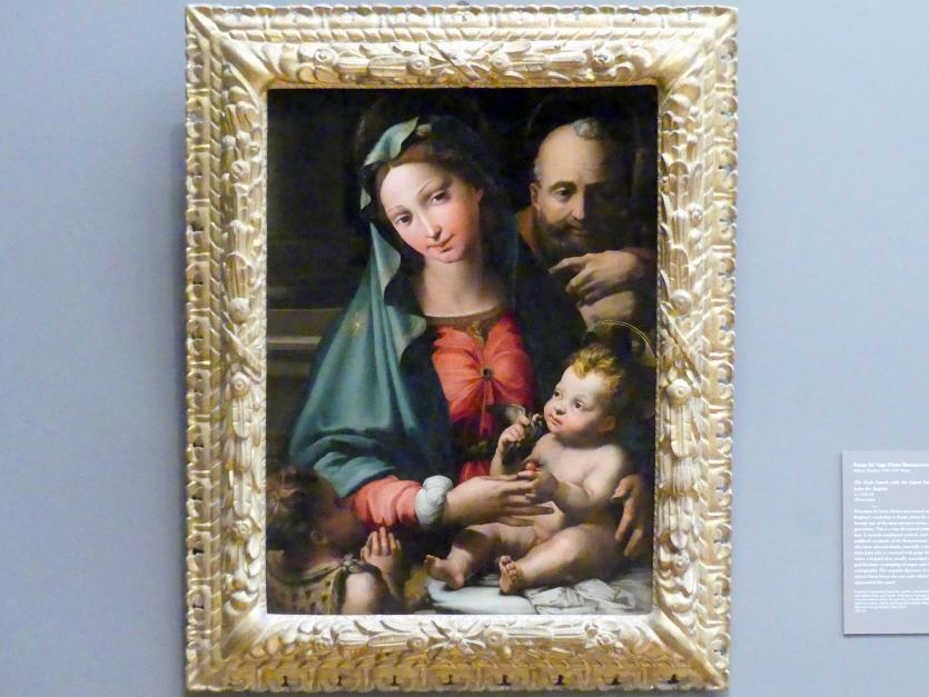 Perino del Vaga (Pietro Buonaccorsi): Heilige Familie mit dem Johannesknaben, um 1524 - 1526