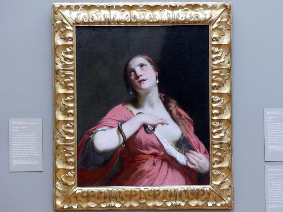 Guido Cagnacci: Tod der Kleopatra, um 1645 - 1655