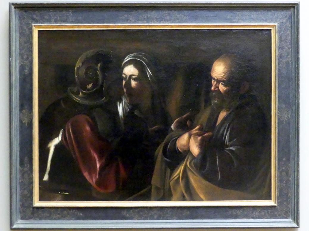 Michelangelo Merisi da Caravaggio: Die Verleugnung Petri, 1610