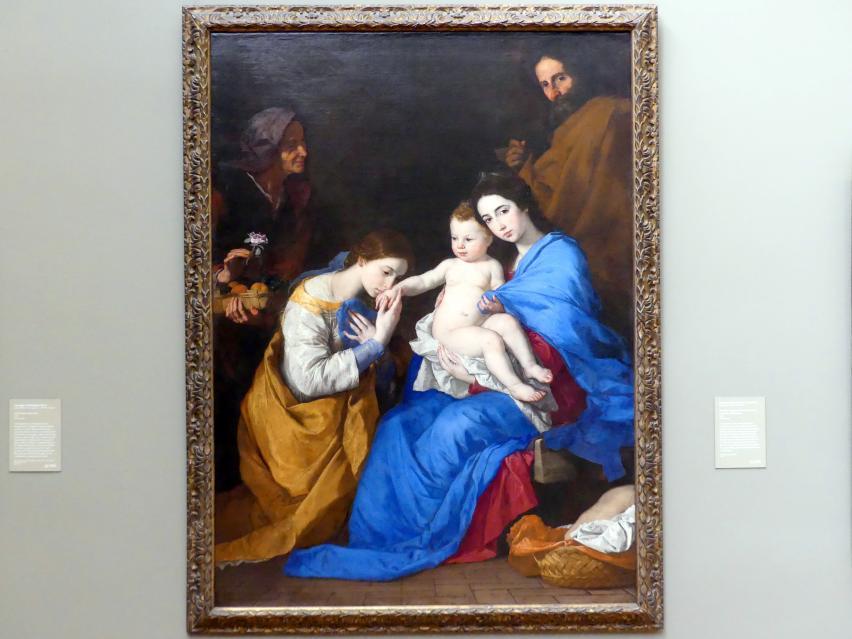 Jusepe de Ribera: Heilige Familie mit den heiligen Anna und Katharina von Alexandrien, 1648