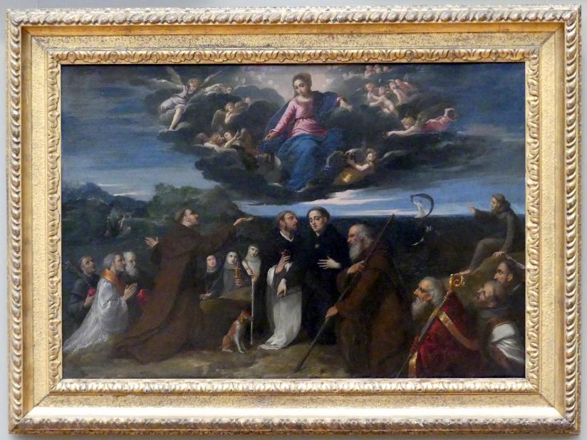 Ippolito Scarsella (Scarsellino): Maria verehrt von Heiligen, um 1609