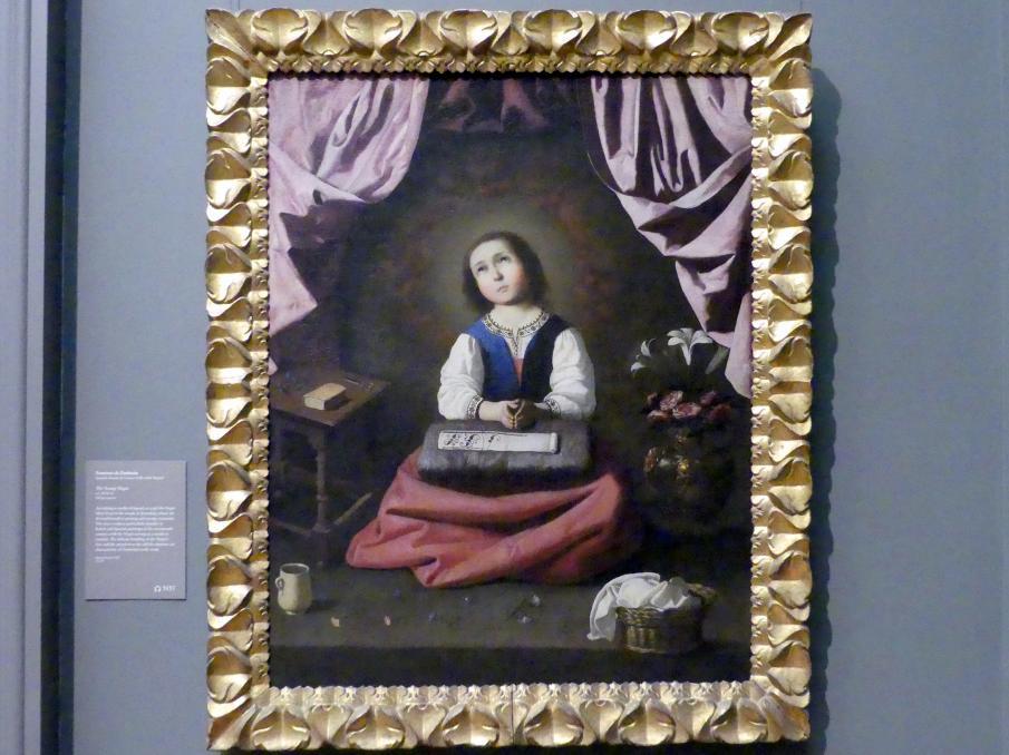 Francisco de Zurbarán y Salazar: Jungfrau Maria als Kind, um 1632 - 1633