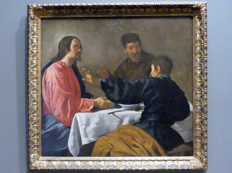 Diego Rodríguez de Silva y Velázquez: Abendmahl in Emmaus, 1622 - 1623