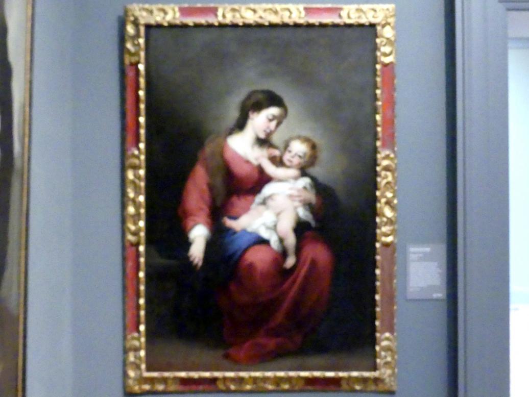 Bartolomé Esteban Murillo: Maria mit Kind, um 1670 - 1672