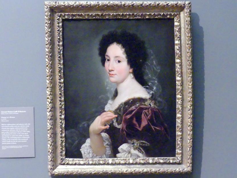 Giovanni Battista Gaulli: Bildnis einer Frau, um 1670 - 1680