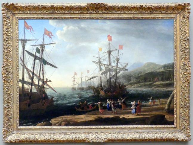 Claude Lorrain (Claude Gellée): Die Frauen von Troja setzen ihre Flotte in Brand, um 1643