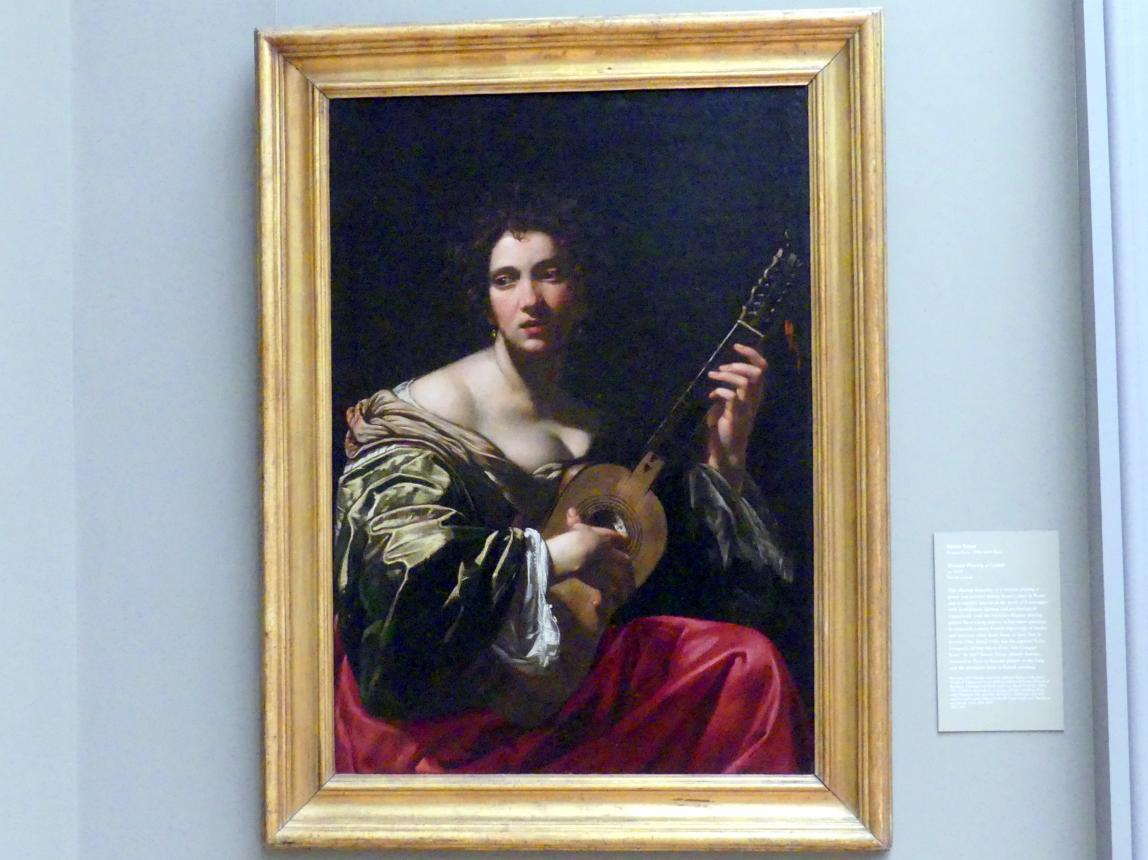 Simon Vouet: Frau mit Gitarre, um 1618
