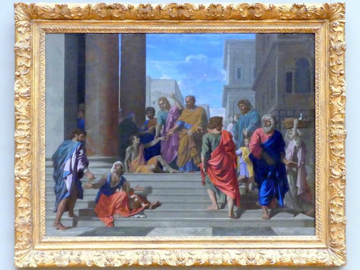 Nicolas Poussin: Die Heiligen Petrus und Johannes heilen den Lahmen, 1655