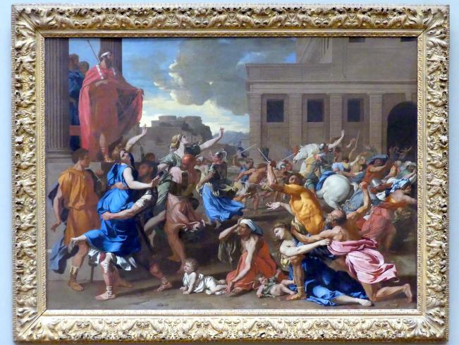 Nicolas Poussin: Raub der Sabinerinnen, um 1633 - 1634