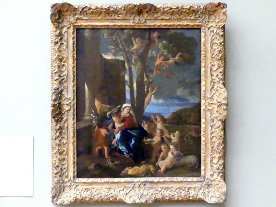 Nicolas Poussin: Die Heilige Familie mit dem Johannesknaben, um 1627