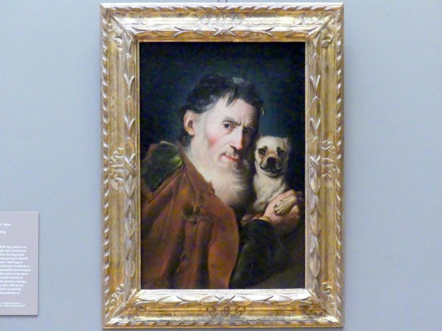 Giacomo Ceruti: Alter Mann mit Hund, um 1740 - 1750