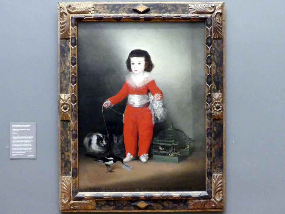 Francisco de Goya (Francisco José de Goya y Lucientes): Manuel Osorio Manrique de Zuñiga (1784-1792), 1787 - 1788