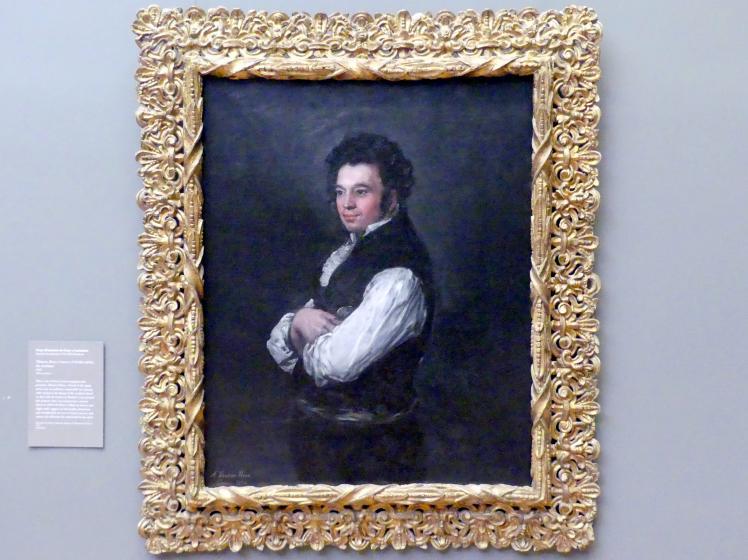 Francisco de Goya (Francisco José de Goya y Lucientes): Tiburcio Pérez Cuervo (1785/86-1841), Architekt, 1820