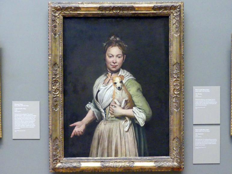 Giacomo Ceruti: Porträt einer Frau mit einem Hund, um 1740 - 1750