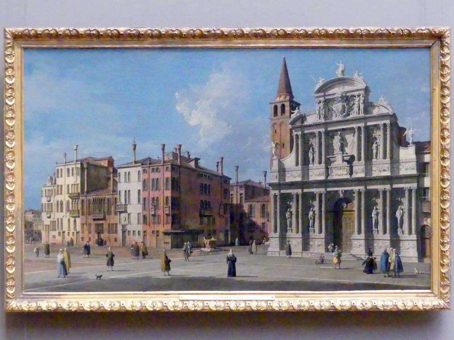 "Giovanni Antonio Canal (""Canaletto""): Campo Santa Maria Zobenigo, Venedig, um 1730 - 1740"