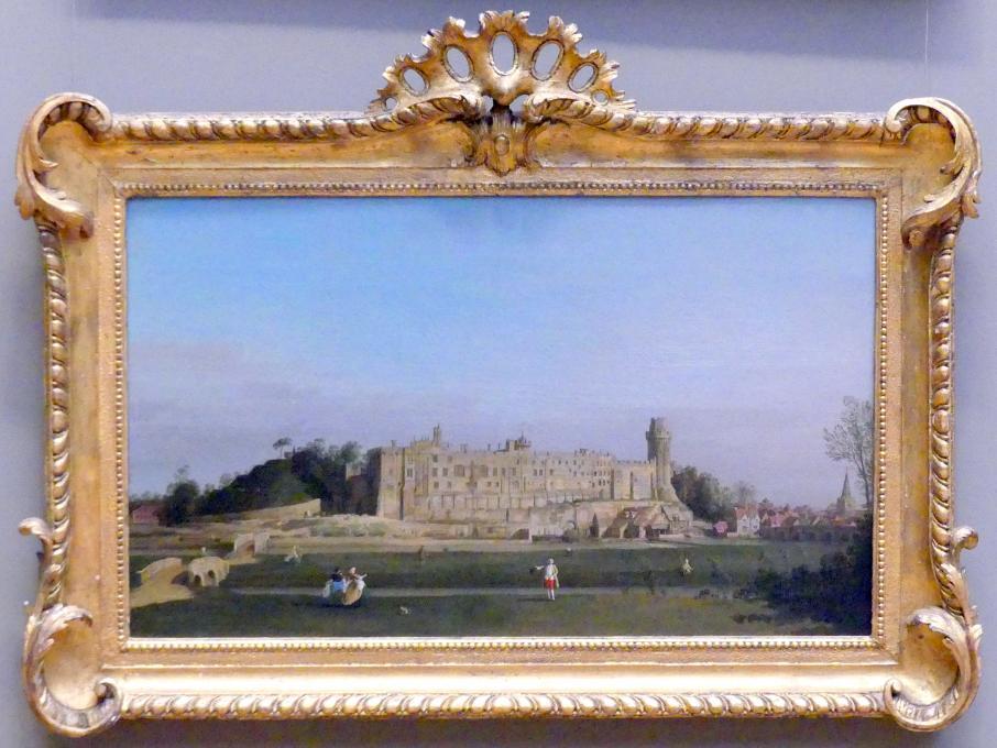"""Giovanni Antonio Canal (""""Canaletto""""): Warwick Castle, 1748"""