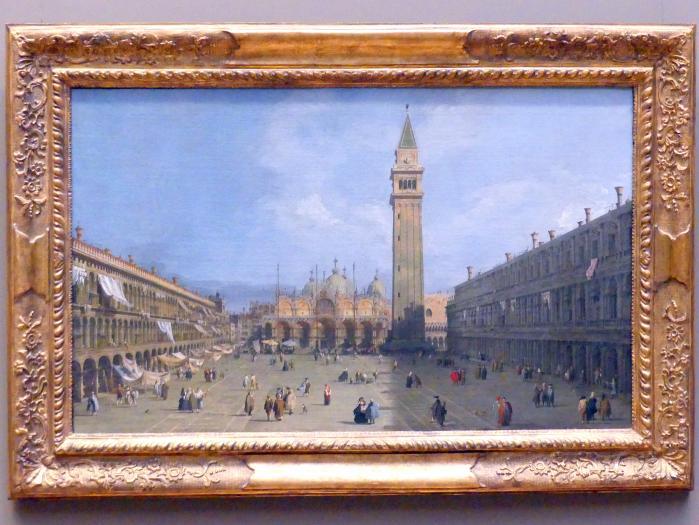 """Giovanni Antonio Canal (""""Canaletto""""): Der Markusplatz in Venedig, um 1725 - 1730"""