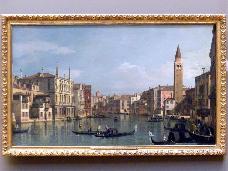 "Giovanni Antonio Canal (""Canaletto""): Der Canal Grande mit Blick in südöstlicher Richtung mit dem Campo della Carità, um 1730 - 1740"