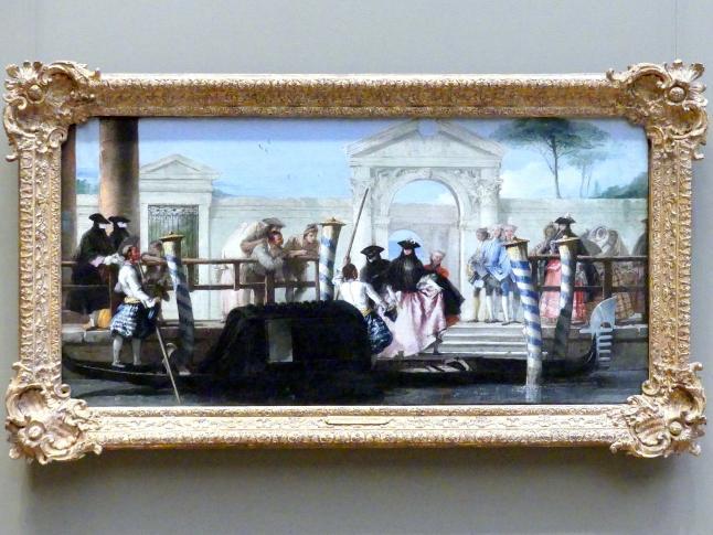 Giovanni Domenico Tiepolo: Die Abfahrt der Gondel, um 1765