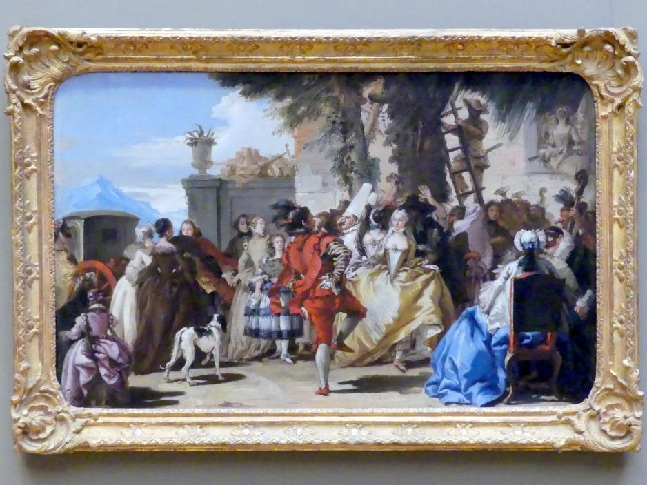 Giovanni Domenico Tiepolo: Tanz auf dem Land, um 1755