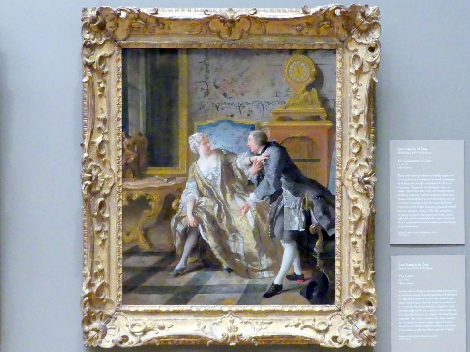 Jean François de Troy: Das Strumpfband, um 1724