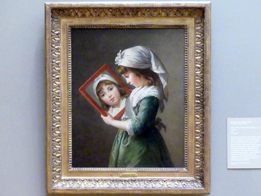 Élisabeth Vigée-Lebrun: Julie Lebrun (1780-1819) mit Spiegel, 1787
