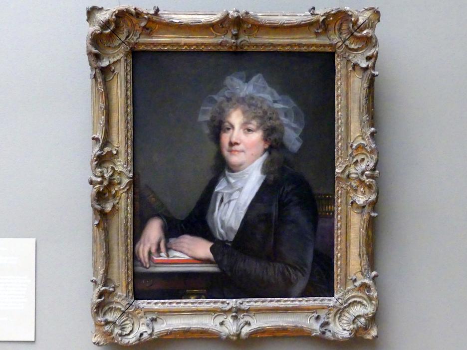 Jean-Baptiste Greuze: Madame Jean-Baptiste Nicolet (Anne Antoinette Desmoulins, 1743-1817), um 1785 - 1790