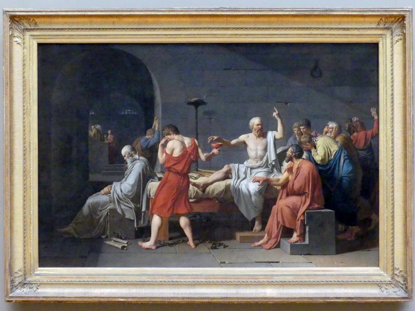 Jacques-Louis David: Der Tod des Sokrates, 1787