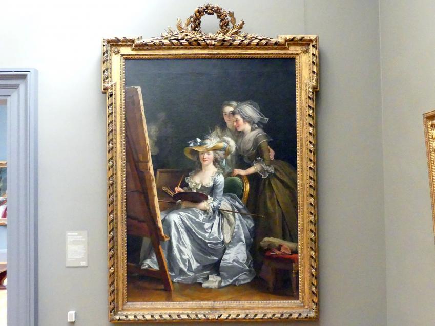 Adélaïde Labille-Guiard: Selbstportrait mit zwei Schülerinnen, Marie-Gabrielle Capet (1761-1818) und Marie Marguerite Carreaux de Rosemond (gest. 1788), 1785