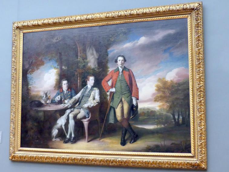 Joshua Reynolds: Der ehrenwerte Henry Fane (1739-1802) mit Inigo Jones und Charles Blair, 1761 - 1766
