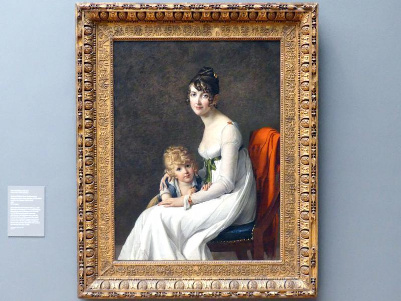 Marie-Guillemine Benoist: Madame Philippe Panon Desbassayns de Richemont (Jeanne Eglé Mourgue, 1778-1855) und ihr Sohn Eugène (1800-1859), 1802
