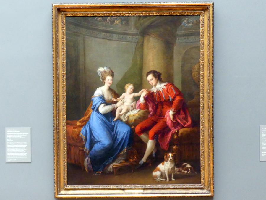 Angelika Kauffmann: Edward Smith Stanley (1752–1834), zwölfter Earl of Derby, mit seiner ersten Frau (Lady Elizabeth Hamilton, 1753–1797) und ihrem Sohn (Edward Smith Stanley, 1775–1851), um 1776