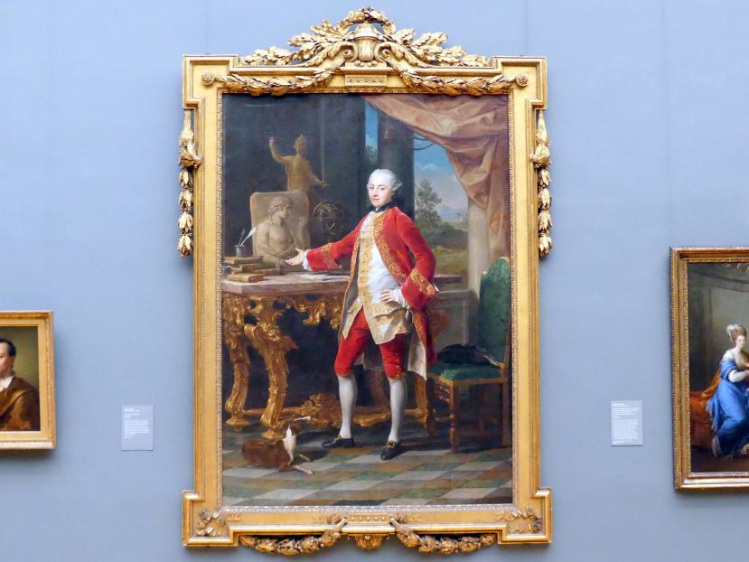 Pompeo Girolamo Batoni: Bildnis eines jungen Mannes, um 1760 - 1765