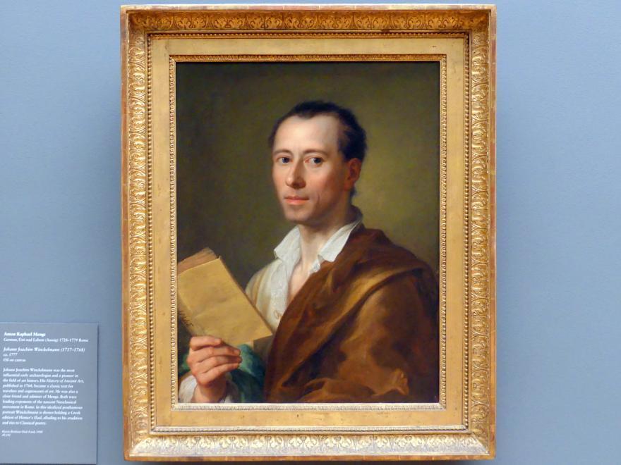 Anton Raphael Mengs: Johann Joachim Winckelmann (1717-1768), um 1777