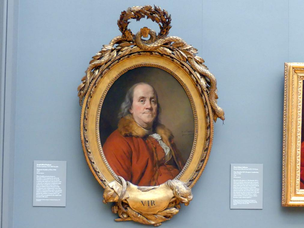 Joseph Siffred Duplessis: Benjamin Franklin (1706-1790), 1778