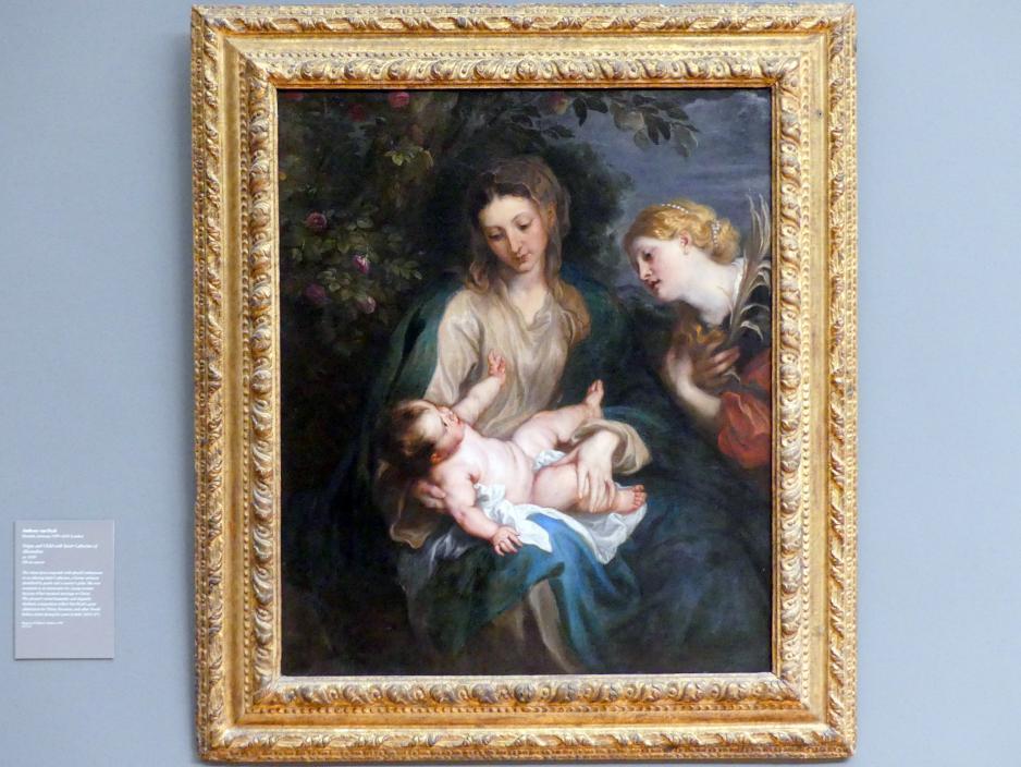 Anthonis (Anton) van Dyck: Jungfrau mit Kind und der heiligen Katharina von Alexandrien, um 1630