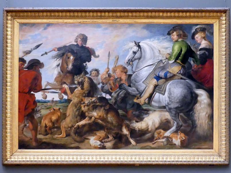 Peter Paul Rubens: Die Wolfs- und Fuchsjagd, um 1616