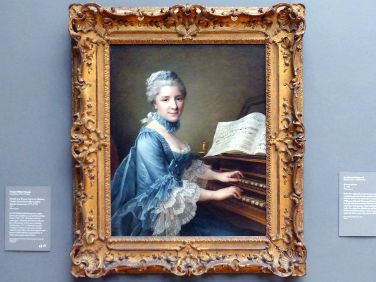 François-Hubert Drouais: Porträt einer Frau, angeblich Madame Charles Simon Favart (Marie Justine Benoîte Duronceray, 1727-1772), 1757