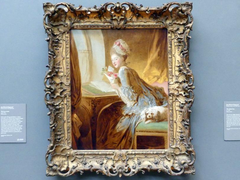 Jean-Honoré Fragonard: Der Liebesbrief, um 1770 - 1775